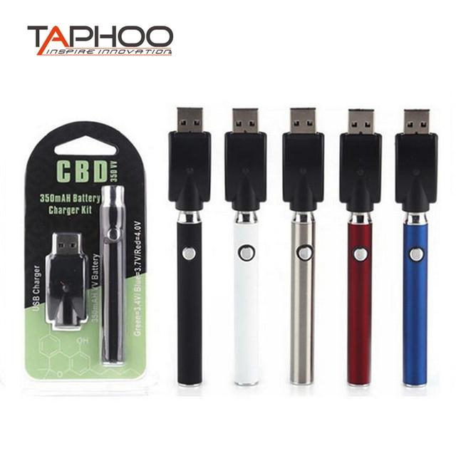 US $100 0  TAphoo 510 thread preheat battery Electronic cigarette Adjust  voltage cbd vape pen 350mah e cig evod battery fit ce3 cartridge-in
