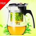 Venda quente 500 ml de Chá de Vidro Resistente Ao Calor Bule de Chá de Flor definir Puer Bule de Café chaleira Conveniente Escritório Teaset 1 pcs, kung fu set.