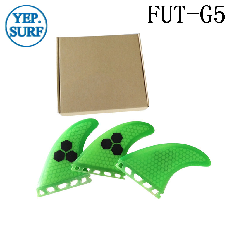 Future G5 Fin Green Honeycomb Surfboard Fins Future Fibreglass Fins Surf Quilhas