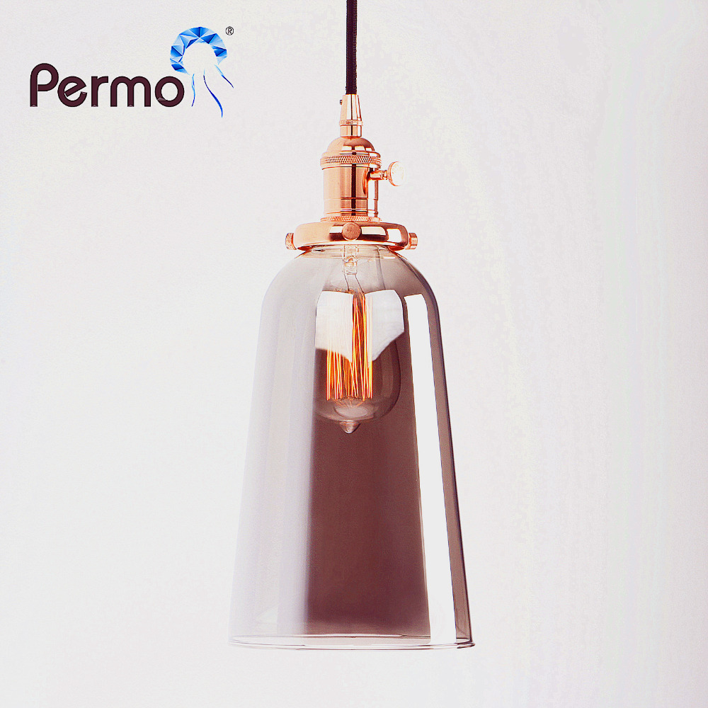 PERMO Vintage Reflective Glass Pendant Lights Modern Loft Pendant Ceiling Lamps Hanging Lights Fixture modern mirror sliver glass pendant lights lustres spherical globle ball pendant lamps hanging light fixture luminaria