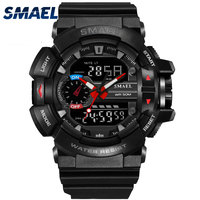 SMAEL Multi Function Dual Display Digital Watch Men S Shock Sports Military Quartz Wristwatches Outdoor Diving