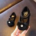 Fashion girls shoes chaussure bonito princesa plana camurça strass non-slip matte da criança shoes super macio e confortável