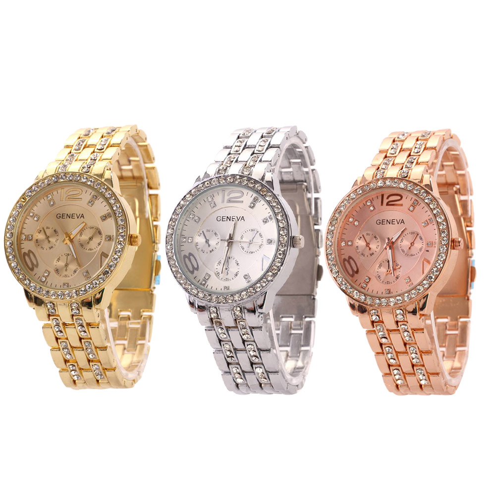 Hot Selling Stainless Steel Casual Wristwatch Women Luxury Quartz Watch 3 colors top selling on Ali platform hot selling stainless steel watch women