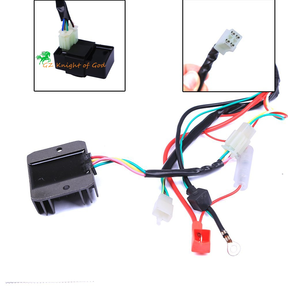 Complete Electrics Coil CDI Magneto Stator Wiring Harness for 4 Stroke ATV  QUAD 150CC 200CC 250CC 300CC Dirt Bike 4 wheelers-in Motorbike Ingition  from ...