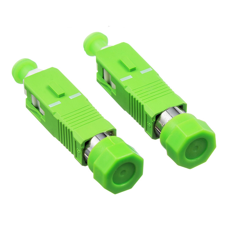 10pcs//lot SC Male to LC Female Adapter Single Mode SM Fiber Optic Connector