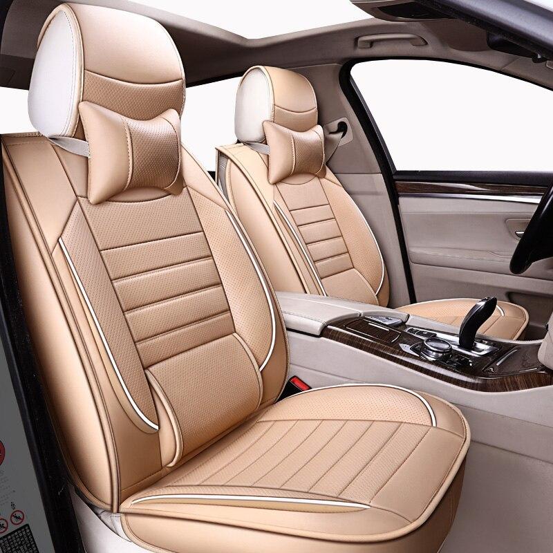 Housses de siège auto universelles en cuir de haute qualité pour renault capture clio 2 4 duster fluence kadjar de 2018 2017 2016 2015