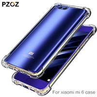 PZOZ xiaomi mi6 case original luxury tpu silicone Transparent Shockproof Protective xiaomi mi 6 case Cover xaomi mi5s 64gb phone