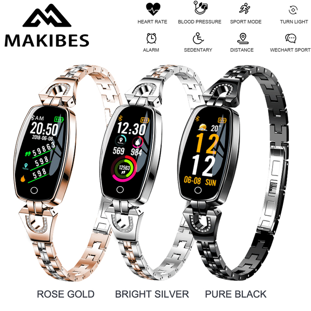 1 Year Warrant Makibes H8 Bracelet Women Heart Rate Sleep Monitor Smart Band Blood Pressure Fitness Tracker For smartphones