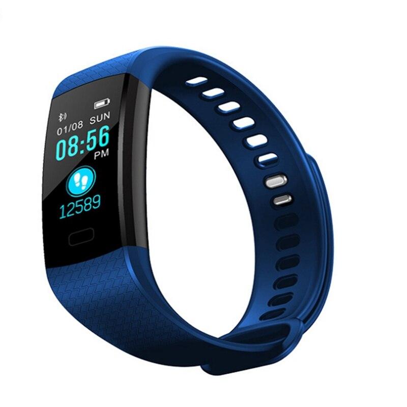 Image 5 - Смарт браслет Y5 монитор кровяного давления сердечного ритма высокое фитнес трекер цветной экран умный браслет для мужчин android-in Смарт-браслеты from Бытовая электроника