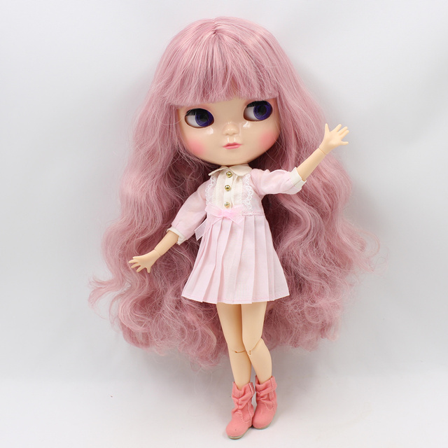 Icy Neo Blythe Doll Jointed Body Light Pink Hair
