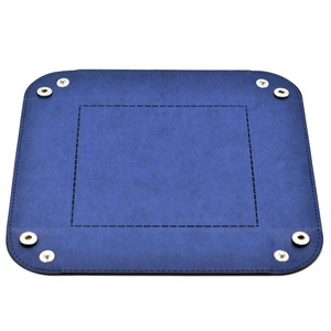 Image 4 - Foldable Storage Box PU Leather Square Tray for Dice Table Games Key Wallet Coin Box Tray Desktop Storage Box Trays Decor