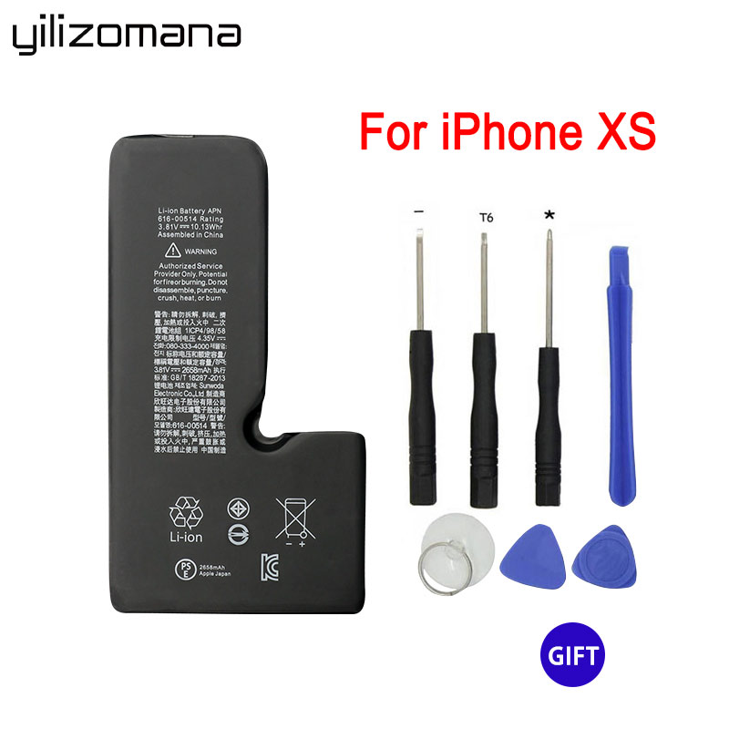 YILIZOMANA For Apple Iphone XS 2658mah Replacement Phone Battery Real Capacity  Replacement Batteries With Free Repair Tools