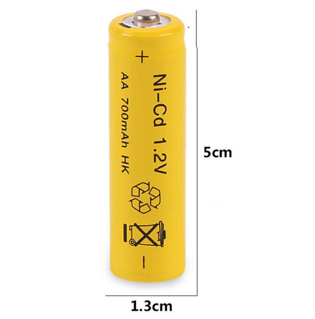 4pcs/lot Cheap NI-Cd 700mah batetry nicd 1.2V AA battery nicd rechargeable battery for toys/Flashlight Free shipping