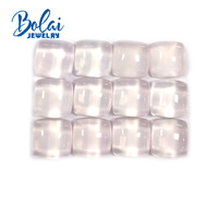 Bolaijewelry,100% Natural rose quartz cushion 13.0mm 3piece in one lot 34.4 ct loose gemstone for jewelry