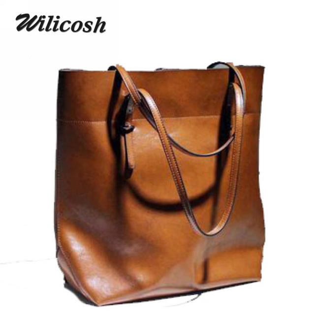 2016 new design fashionable ccowhide leather women messenger bags oil waxing women leather handbags women's shoulder bags DB4705