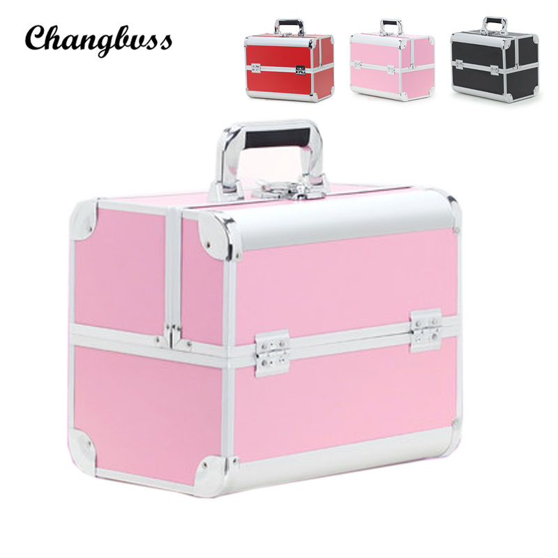 Beauticians Professional Cosmetic Bag Women Travel Makeup Organizer Portable PVC Vanity Case Toiletry Storage Box Make Up Bags fashion trunk neceser pu professional portable multifunctional large women makeup bag cosmetic case make up box travel toiletry