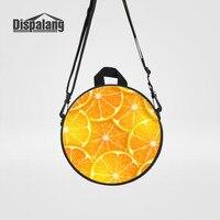 Dispalang Women S Round Backpack Orange Fruits Print School Bags Kids Travel Messenger Bag Top Handle