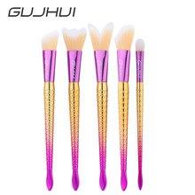 Fashion New PRoduct 5 Pcs Blending Pencil Foundation Eye shadow Makeup Brushes Eyeliner Brush tools