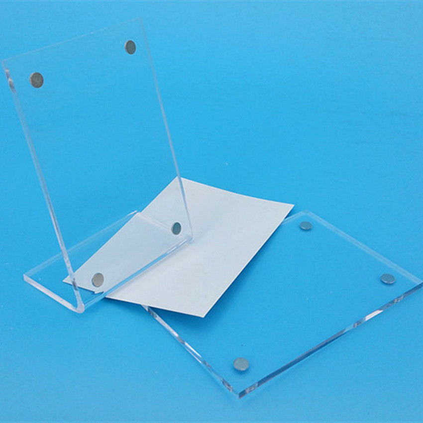 Clear Vertical A4A5 Acrylic Magnet Suck L Sign Price Label Display Paper Card Label Holder Stands T3mm on Tabletop 2pcs wella краска для волос color touch relights 60 мл 9 оттенков 03 французская ваниль