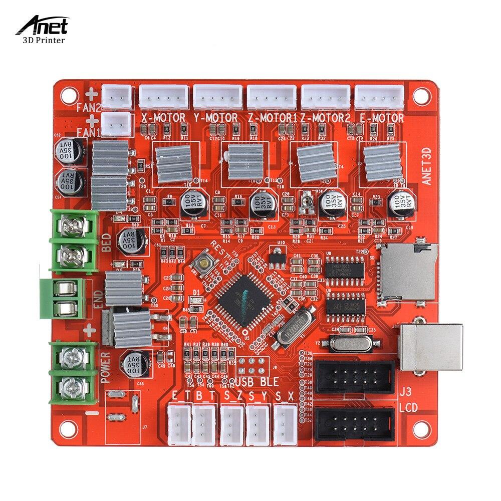 Rojo Tama/ño Libre Placa de Control para Madres Kit de Impresora 3D de Escritorio Anet A8