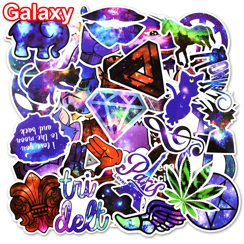 Hot Sale 50 Pcs Galaxy Stickers Mixed Toy Cartoon Skateboard Luggage Vinyl Decals Laptop Phone Car Styling Bike JDM DIY Sticker
