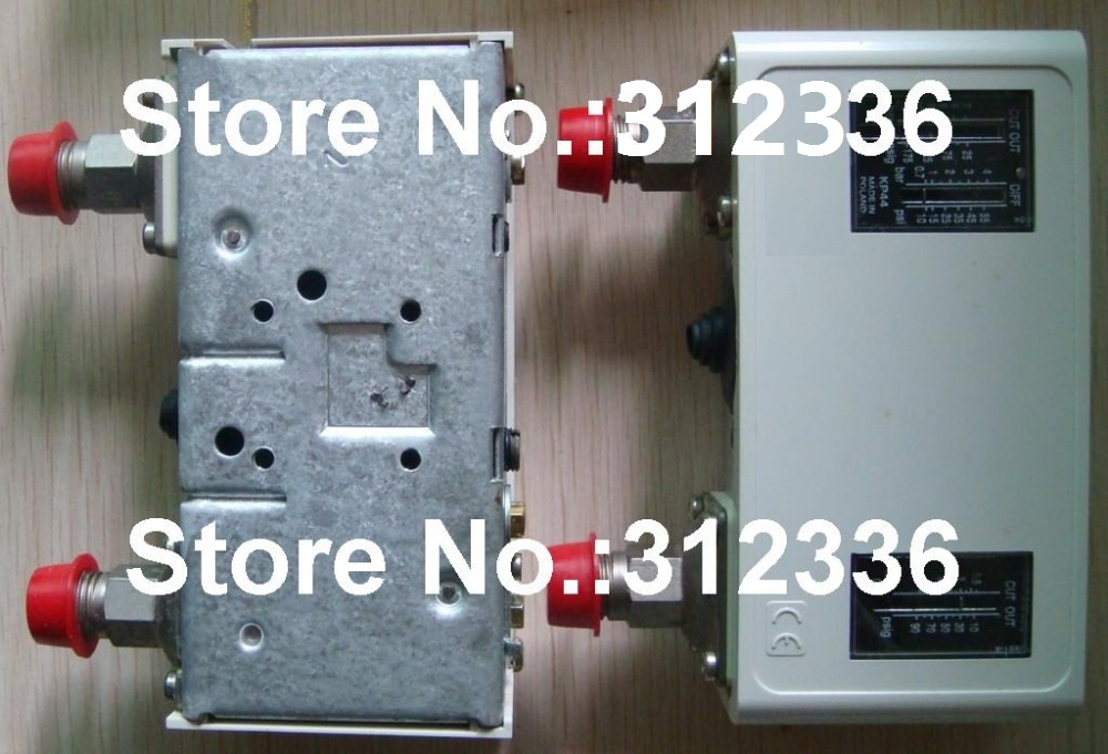 Free Shipping KP44 060-0013 Double Pressure controller switch relay Pressure switch Automatic reset G1/4A in flare new and original kp15 060 1264 kp15 060 1265 double pressure switch high and low voltage pressure controller
