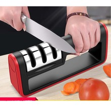 цена на Professional Knife Sharpener Diamond Stainless Steel Knife sharpening Tool Carbide Ceramic Knife Kitchen Tools Sharpening Stone