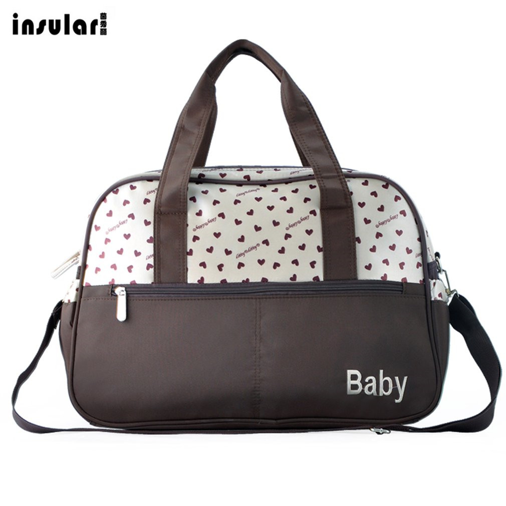 Hot ! Insular Multi-functional High-grade Large Capacity Mommy Bag Antibacterial Baby Nappy Backpack Safe For Babies Organizer