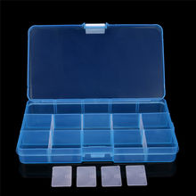 ISHOWTIENDA 15 Grids Storage Case Box Holder Container Pills Jewelry Nail Adjustable Plastic Rings Jewelry Display Organizer(China)