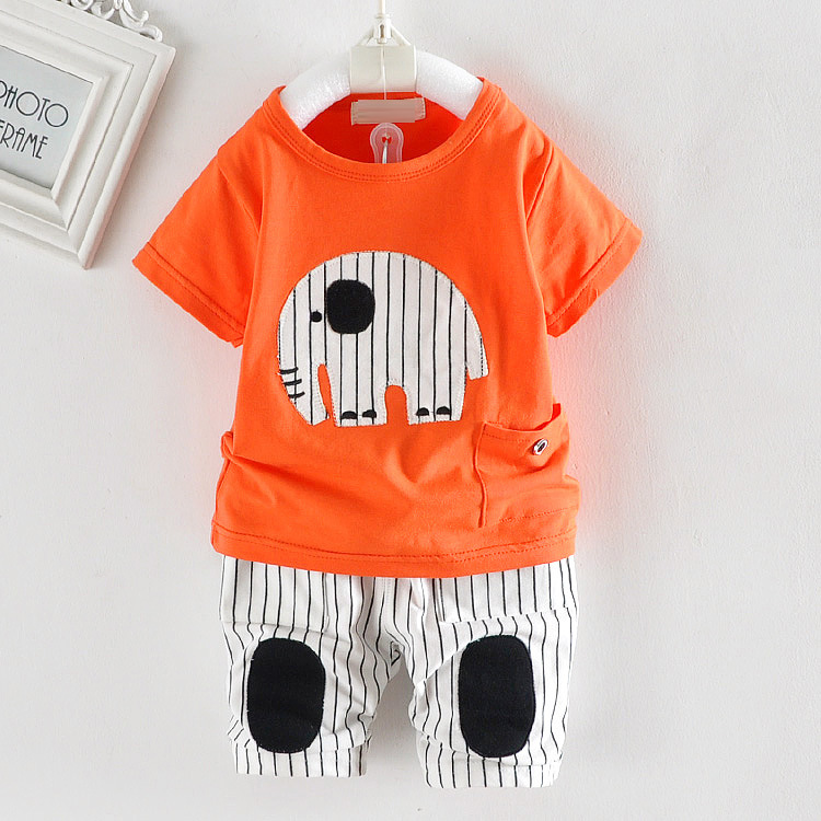 Newbron Girls Boys Clothes Summer New Style Cute Short Sleeved T-shirt Tops+Short Pants Children Clothing Bebes Jogging suits