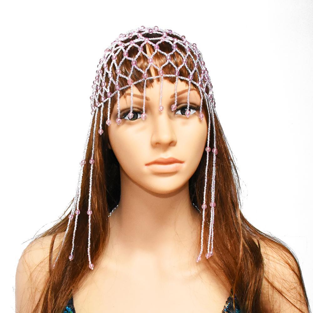 Egyptian Queen Cleopatra Crown Dance Head Piece Bead Sequin Headband