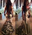Trapless sexy back прозрачный русалка платья знаменитостей 2017 вечернее платье обычай делать бесплатная доставка