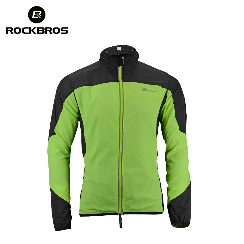 Men's Clothing Rockbros Cycling Outdoor Sports Jersey Wind Coat Jacket Long Sleeve Black S-4xl