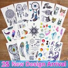 3d dream catcher dreamcatcher flash Tatuagens Temporárias Tatuagem adesivos arte do corpo À Prova D' Água para as mulheres transferível tatuagem falsa