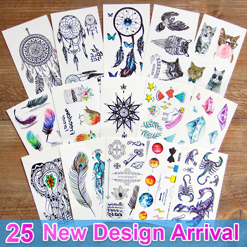 3d dream catcher sex Waterproof Temporary Tattoos dreamcatcher flash Tattoo stickers body art for women transferable fake tattoo