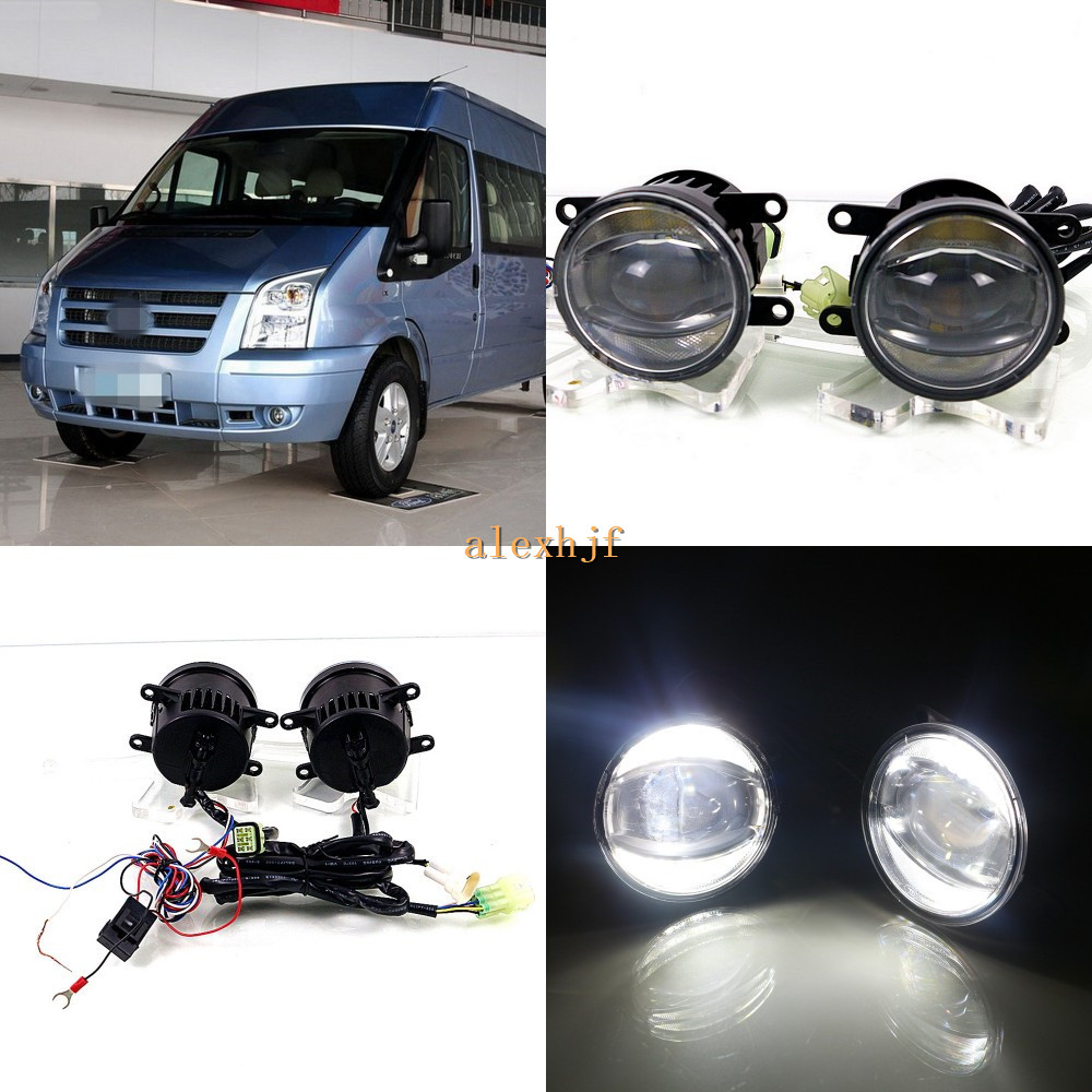 July King 1600LM 24W 6000K LED Light Guide Q5 Lens Fog Lamp +1000LM 14W Day Running Lights DRL Case for Ford Transit 2006-2015 july king 1600lm 24w 6000k led light guide q5 lens fog lamp 1000lm 14w day running lights drl case for ford focus ii iii 06 14
