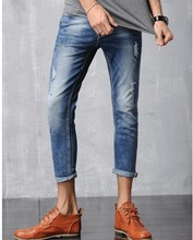 Весна / лето 2016 европа и соединенные штаты мужские девять пунктов джинсы изношенные талии развивать нравственность мужчины в джинсах
