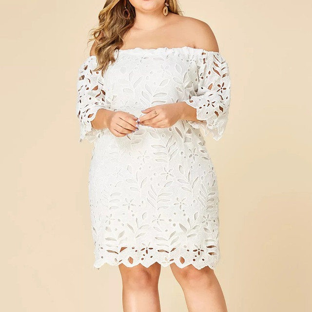Solid Plus Size Maternity Dress 4
