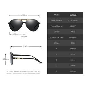 Image 5 - BARCUR degli uomini Occhiali Da Sole Polarizzati UV400 Protezione di Viaggio di Guida Maschio Occhiali da sole Eyewear Oculos Accessori Maschili Per Gli Uomini