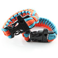 paracord bracelet styles long string survival parachute cord jewelry with whistle