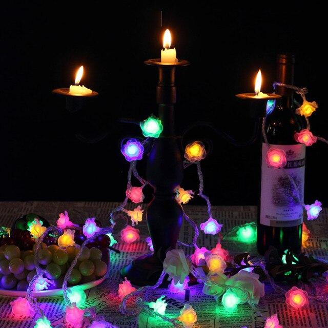 6m 40 Led Rose String Lights Decorative Light Room Decor Outdoor Mini Diy Bar Strip