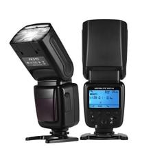 Para cámara Canon Nikon Sony Olympus Pentax DSLR cámara inalámbrica Universal Flash Light Cámara Speedlite GN33 LCD con Mini soporte