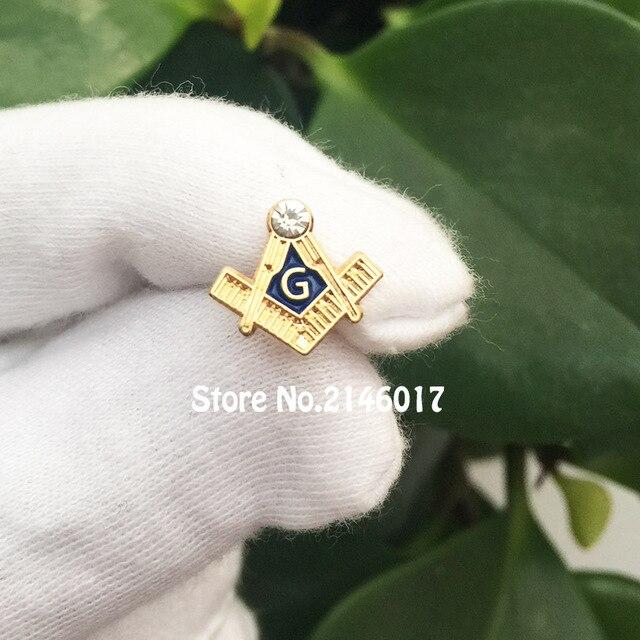 Masonry Metal Badge 11mm Small Size Masonic Free Masons Lapel Pins Square  and Compass G with cc9cf774632a