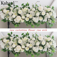 100cm and 50cm custom artificial flowers for wedding wall arrangement supplies silk peonies fake flower row arch backdrop decor