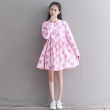 55e07094361 Mori fille doux femmes mignon robe courte rose Fruit imprimé coton Vintage  école robe printemps automne