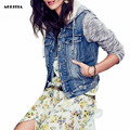 2017 Spring Women Jeans Patchwork Jacket Fashion Denim Hoody Jackets Jaqueta Feminina