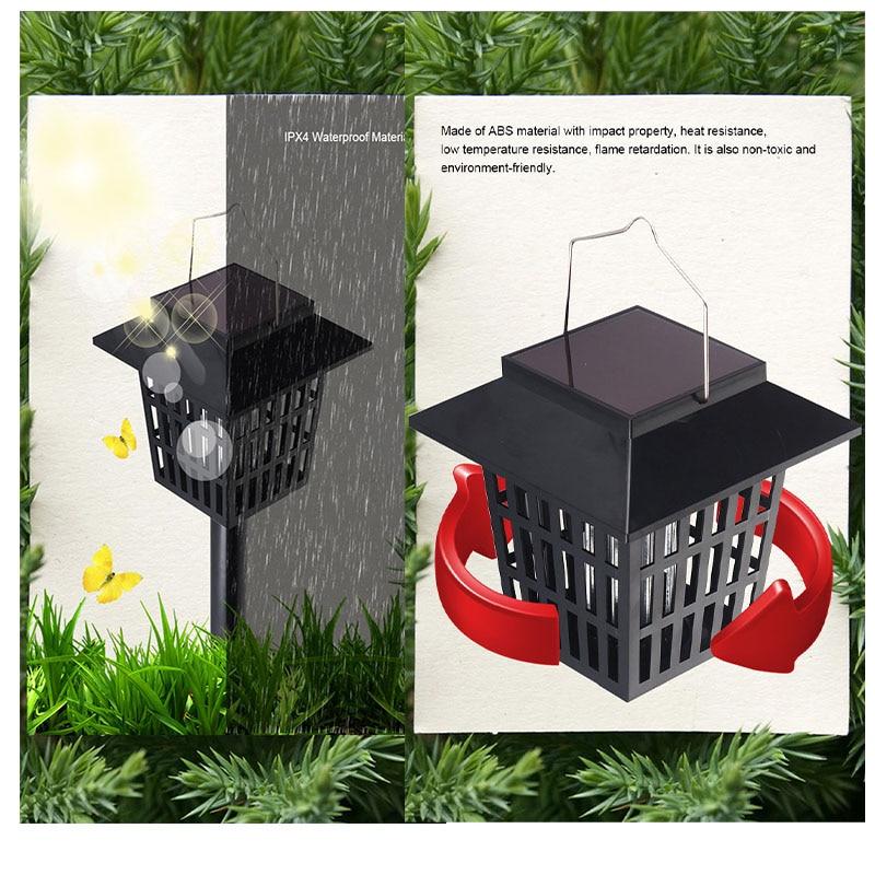 Mising AGD-11 aed päikeseenergia LED Mosqutio tapja lambi veekindel - Puhkusevalgustus - Foto 5