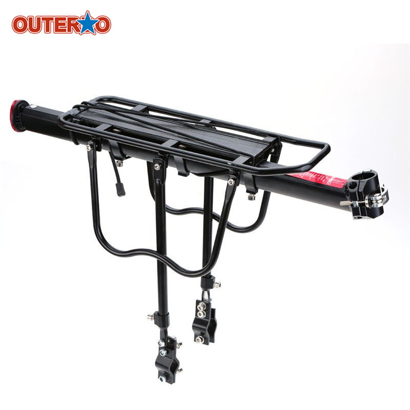 OUTERDO Aluminum Alloy Bicycle Racks Bicycle Luggage Carrier MTB Bicycle Mountain Bike Road Bike Rear Rack Install Component цена 2017