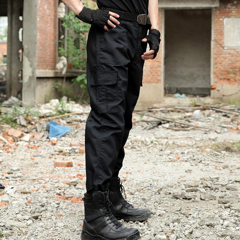 Black Military Tactical Cargo Pants Men Army Tactical ...