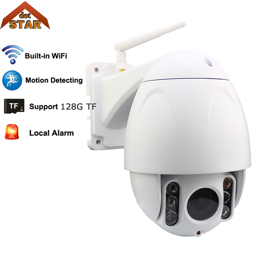 wifi IP camera Outdoor 1080P PTZ waterproof 4*optical zoom 2MP support 128G TF card wireless security IP dome camera
